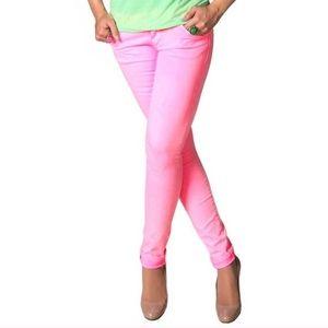 JCP Pink skinny jeans sz 8